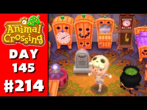 Animal Crossing: New Leaf - Part 214 - Halloween! (Nintendo 3DS Gameplay Walkthrough Day 145)