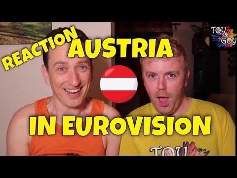 EUROVISION AUSTRIA ALL SONGS REACTION