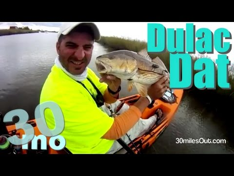 30milesOUT.com- DULAC LOUISIANA KAYAK FISHING, REDFISH how to