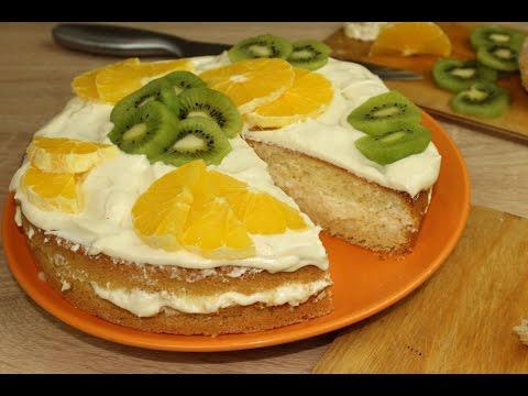 Бисквитный торт с масляным кремом. Классика жанра ☺