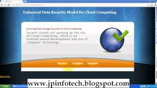 Enhanced Data Security Model for Cloud Computing 2012 IEEE DOTNET