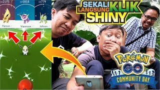 EVOLVE SHINY BARU + DAPAT EEVEE 100% PERFECT IV !!! 「Eevee Community Day Pokemon GO Indonesia」