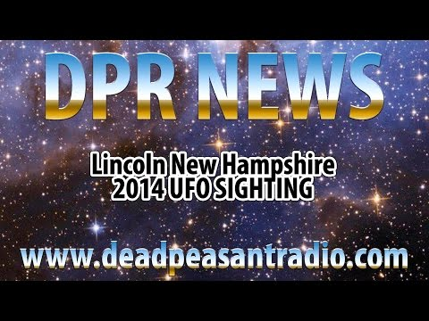 2014, Lincoln New Hampshire, UFO Orb, Sighting Story and Recreation