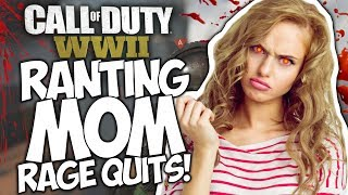 CALL OF DUTY WWII TROLLING! RANTING MOM RAGE QUITS!
