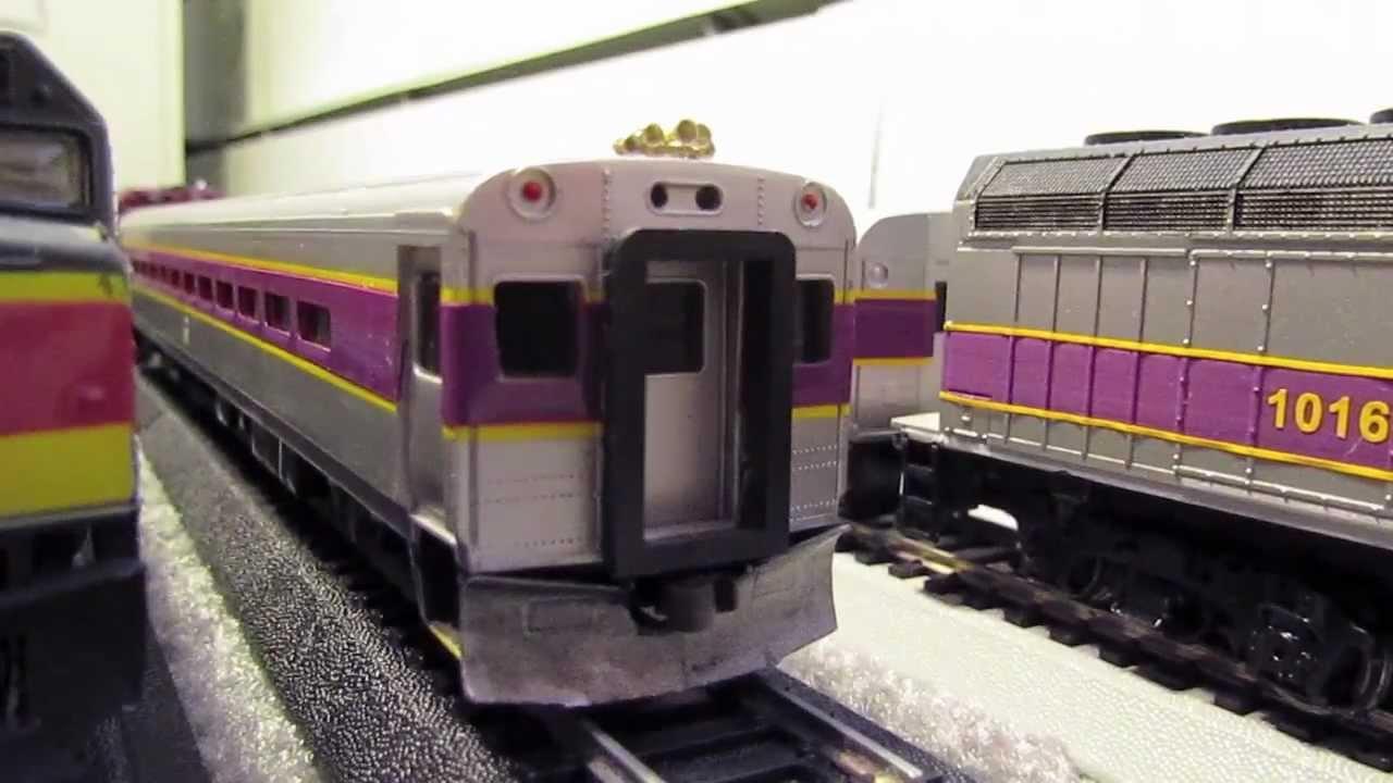 Guys Working On Cars >> Ho Scale MBTA Train Set. Got them off Ebay. - YouTube