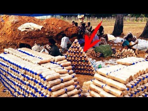 Африканцы додумались строить дома из бутылок!   Парализованные теперь смогут гулять!