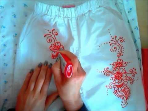 Рисунки на ткани своими руками фото