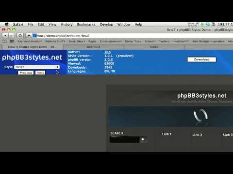 PHPBB: Installing a Style