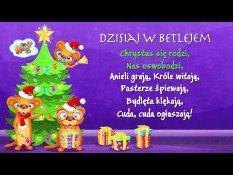 Polskie Kolędy - Dzisiaj W Betlejem + Tekst (karaoke)