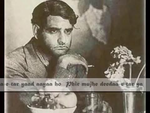 Phir Mujhe Deeda-e-tar Yaad Aaya..talat Mehmood-k.l Saigal- Gulam Mohammad -tribute To Mirza Ghalib video