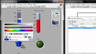 Using the Tools Palette in NI LabVIEW