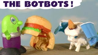 Funny Funlings meet Transformers Botbots | Robots in disguise as food save the day TT4U