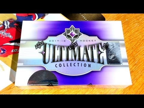 17/18 UD Ultimate Collection Hockey Hobby Box Break