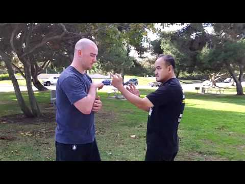 Muay Thai Boar Bando vs Cambodia Wing Chun (close-in) at OC Open Martial Arts Meetup Sparring Image 1