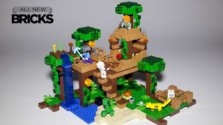 Lego Minecraft 21125 The Jungle Tree House Speed Build