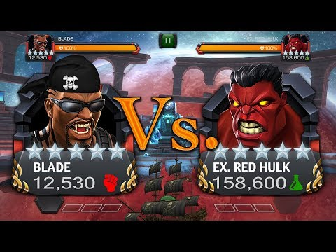 5 Star Blade Vs. Labyrinth Red Hulk [A Caribbean Special] | Marvel: Contest Of Champions