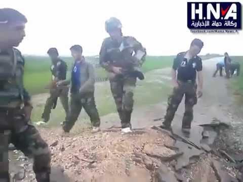 خطير مسرب جيش بشار الاسد وهم يتدربون على زرع المتفجرات