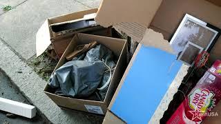 Đời sống ở Mỹ: Đang đi lượm rác thì tình cờ có 1 ông Mỹ giàu mời vào nhà cho cái tv trị giá $700usd