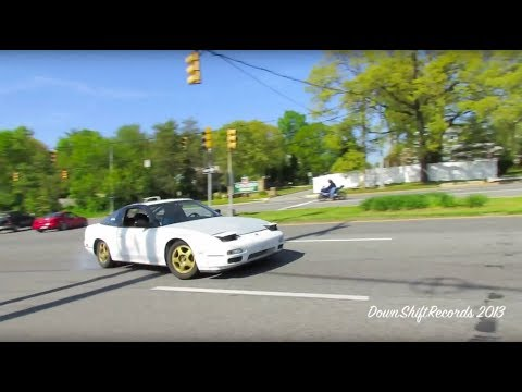 Nissan 240SX S13's Drifting at Mid Atlantic Mega Meet - R.I.P. Daniel
