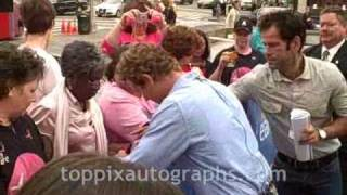 "Simon Baker - Signing Autographs at ""The Early Show"" in NYC"
