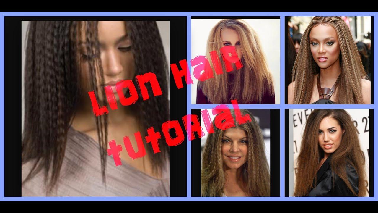 Lion Hair Tutorial Lion Hair Tutorial