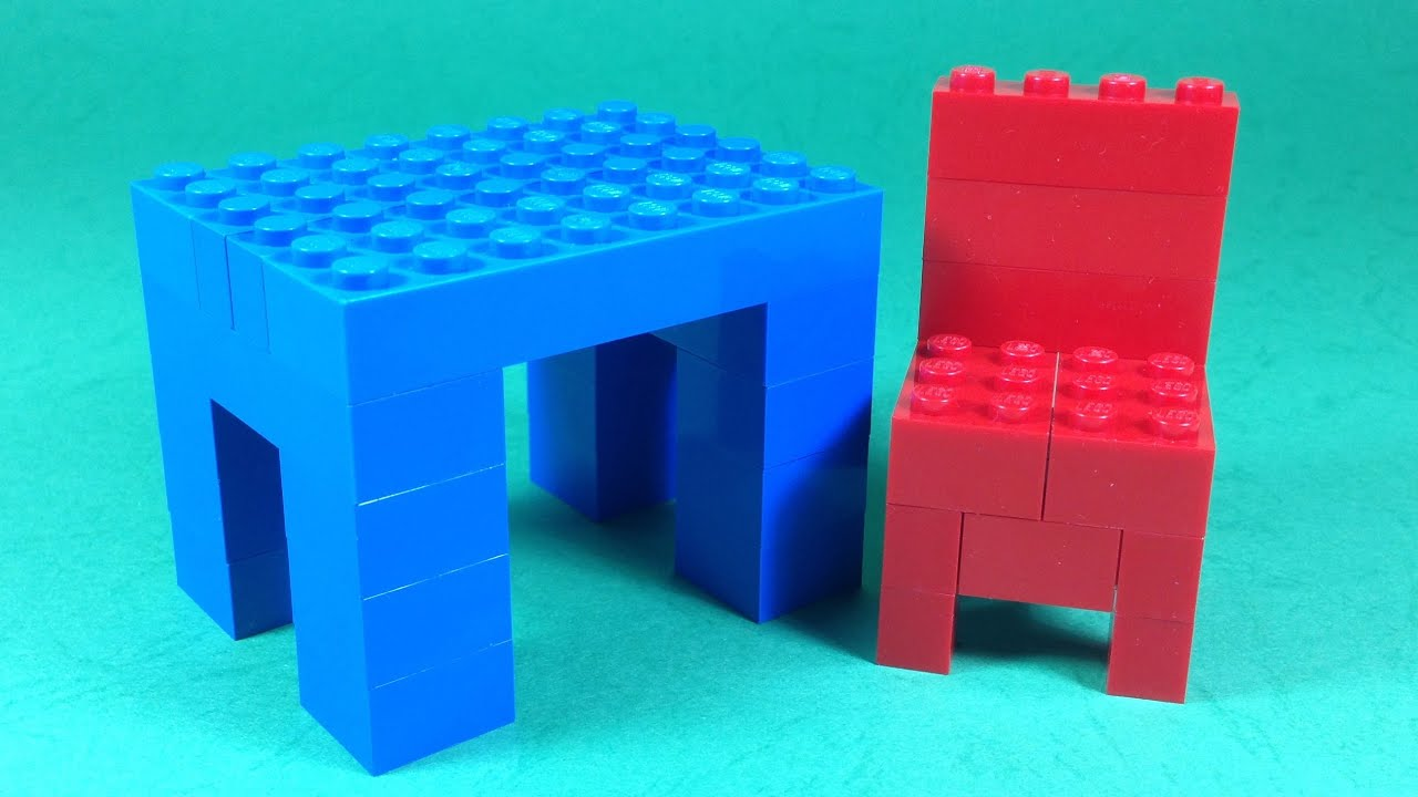 How To Build Lego TABLE and CHAIR (FURNITURE) - 4628 LEGO ...