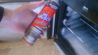Mr muscle oven cleaner spray demonstration