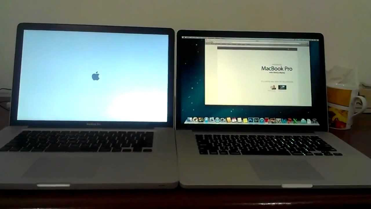 Macbook Pro Late 2008 Vs Retina Mid 2012 Youtube