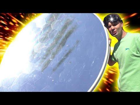 🌑 Солнечный концентратор 2000°С вот это БОМБА!  из большой спутниковой тарелки  Игорь Белецкий