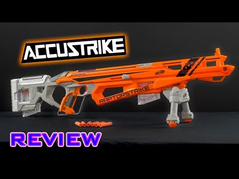 [REVIEW] Nerf Accustrike Raptorstrike Unboxing. Review. & Firing Demo