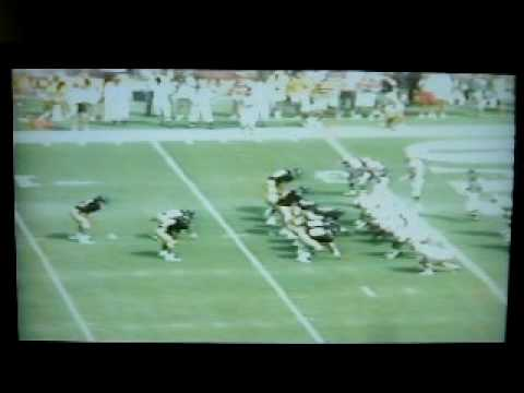 1989 Southern Miss Florida State Brett Favre throws game winning touchdown Video