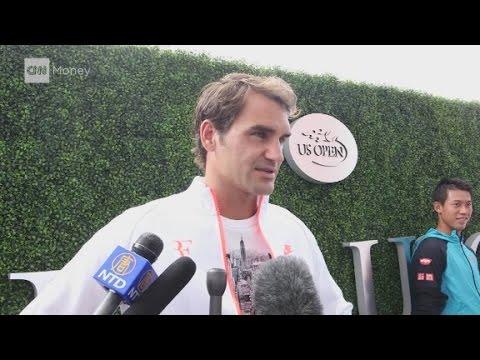 Roger Federer talks tennis, market volatility