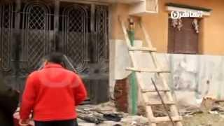آثار تفجير منزل المستشار الذي برأ حبيب العادلي