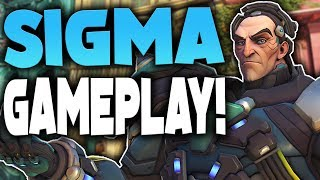 SIGMA NEW OVERWATCH CHARACTER GAMEPLAY! (THIS GUY IS INSANE)