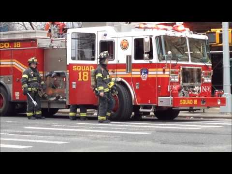 """FDNY ON SCENE OF """"ALL HANDS"""" FIRE ON WEST END AVE. ON WEST SIDE OF MANHATTAN IN NEW YORK CITY."""