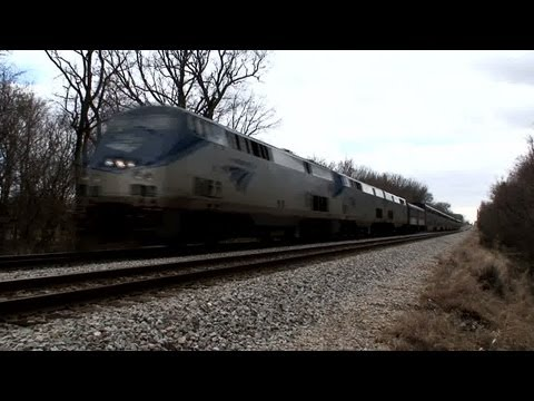 Amtrak Empire Builder- 25 min West of Union Station 1080P