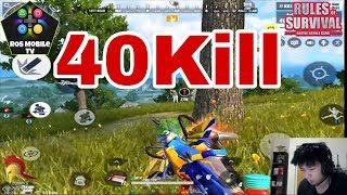 Jayzee: 40kill Play with Teammates full game play- Rules of Survival/ROS Mobile TV/-Ep.23