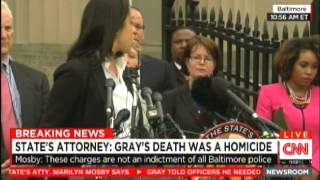 Marilyn Mosby Indictments For Freddie Gray Murder-Failure To Protect Prisoner-Great Audio!