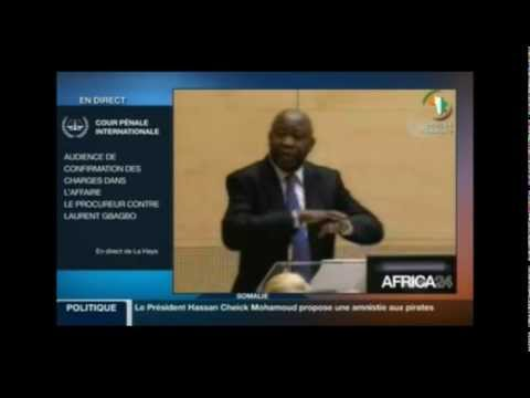 Audience de confirmation à la CPI: l'intervention du president Laurent Gbagbo