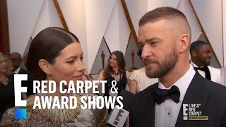 """Justin Timberlake Says Jessica Biel Is """"Perfection"""" at 2017 Oscars 