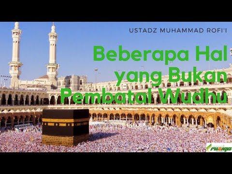 Ustadz Muhammad Rofi'i - Beberapa Hal yang Bukan Pembatal Wudhu