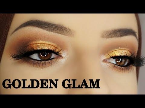 Classic Brown Glitter Eye Makeup Tutorial   Makeupartist Najla