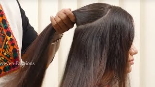 Best Wedding Hairstyle For Long Hair || Simple Quick Hairstyle for Party/Function