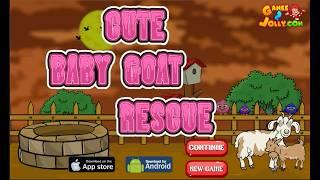 Cute Baby Goat Rescue Walkthrough - Games2Jolly
