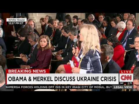 German Reporter Asks 'Nobel Laureate Obama' for His 'Red Line' in Ukraine, Obama Dodges
