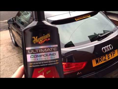 Meguiar's Ultimate Compound & Armor All Shield on Audi A1