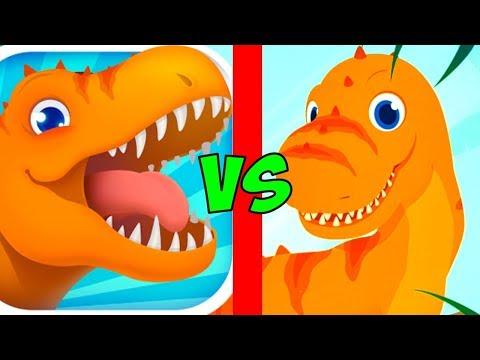 Динозавры Юрского периода - Тирекс Спасатель - игра мультик для детей | Jurassic Rescue от yateland