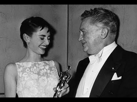 Audrey Hepburn winning an Oscar for 