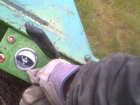 Cold start and how to run the John Deere 800 Swather