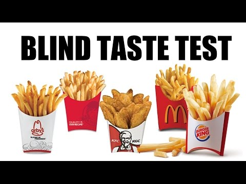 Blind Taste Test:  Fast Food Fries  |  HellthyJunkFood
